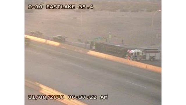 Overturned truck blocking traffic on Gateway in East El Paso