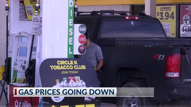 Gas prices going down in El Paso area