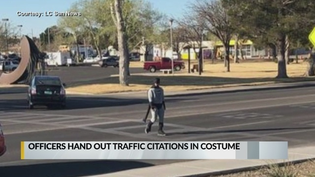 Las Cruces police officers issue citations while dressed as superheros