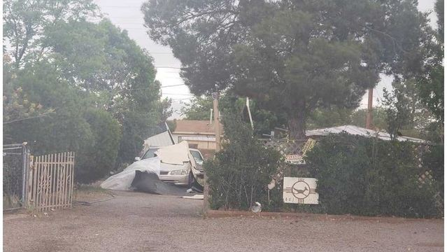 Sunday storms damage several Las Cruces properties